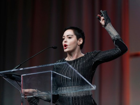 Rose McGowan calls out 'Hollywood fakery' after celebs wear black to the Golden Globes