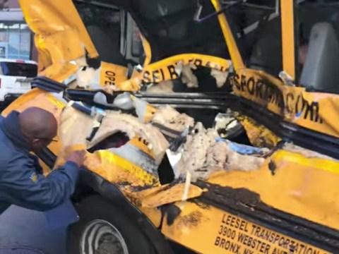Panic on school bus caught up in New York terror attack