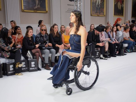 Paralympian achieves her dream of taking part in a London Fashion Week show