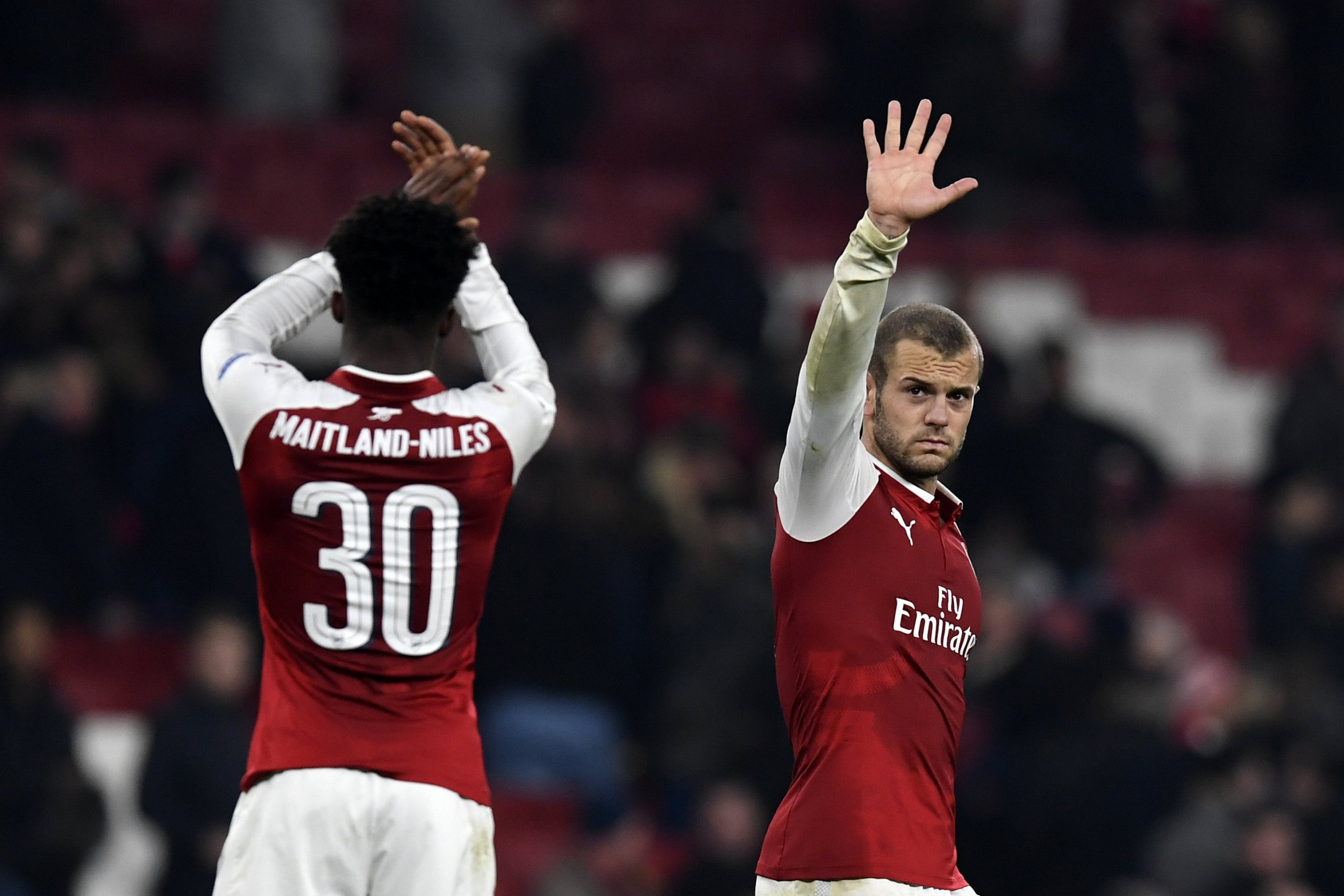 Jack Wilshere mugs Ainsley Maitland-Niles then fails to score stolen chance