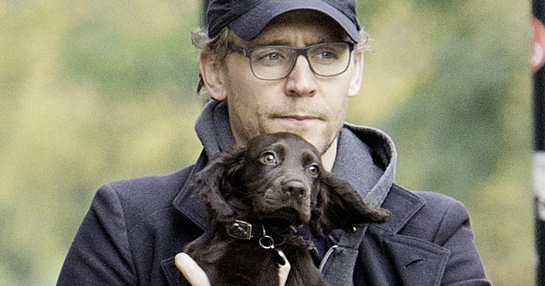Hold on to your ovaries, ladies – here's Tom Hiddleston holding a puppy