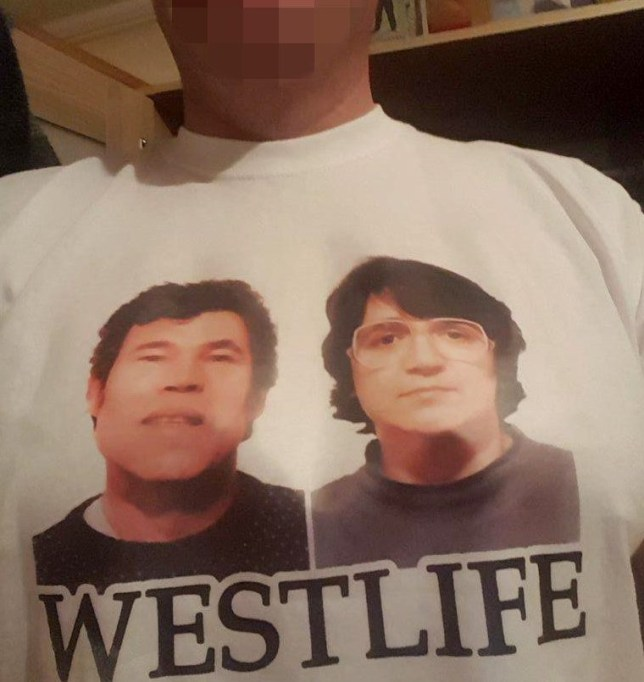 5ba46f71 A proud owner of the 'Westlife' t-shirt said people found it funny  (Picture: Metro.co.uk)