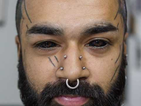 This guy is the first in India to tattoo his eyes completely black