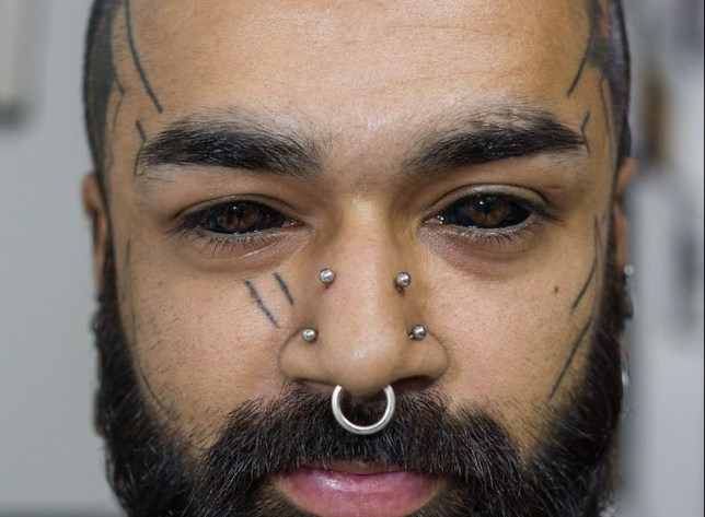 Karan Sidhu is the first in India to tattoo his eyes completely ...