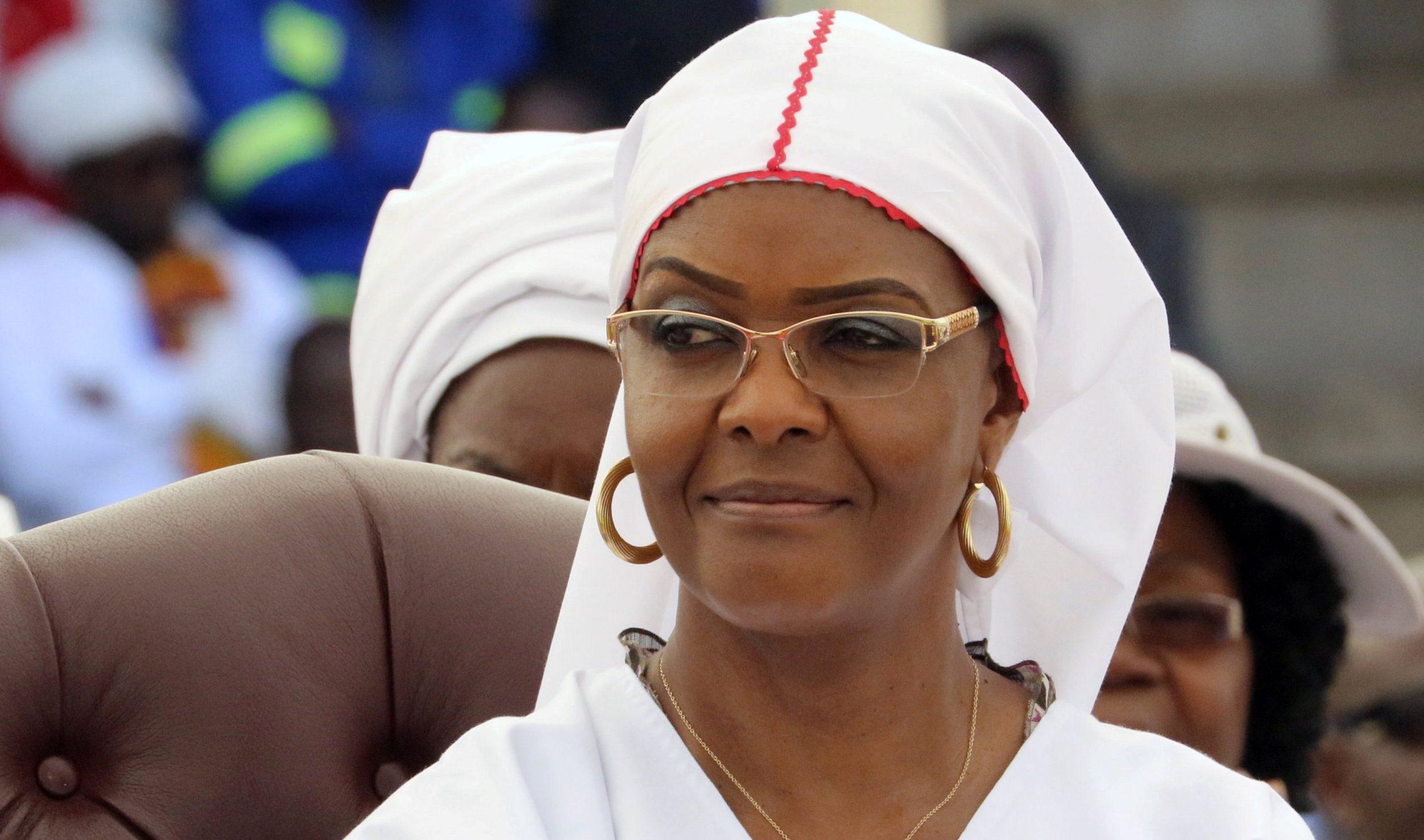 Zimbabwean President Robert Mugabe's wife Grace Mugabe