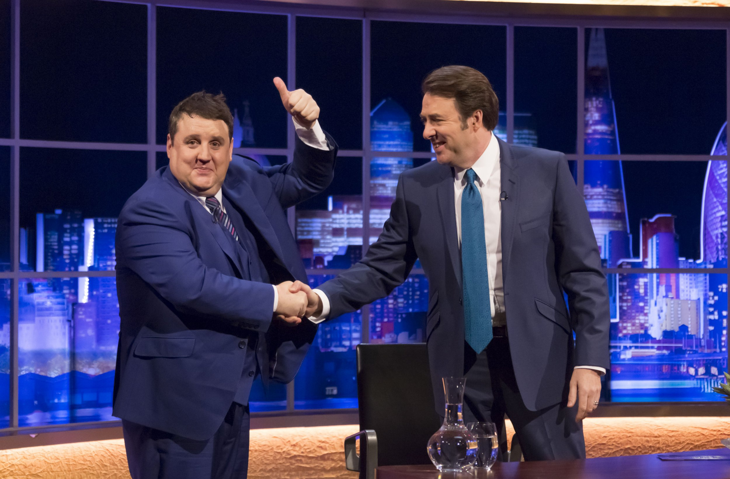 Peter Kay misbehaves spectacularly on The Jonathan Ross Show inviting audience members on stage and climbing on set