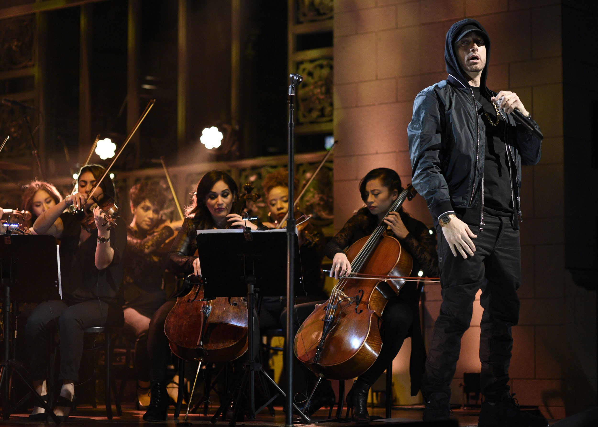 Eminem told to 'retire to the trailer park' as the 'washed up' rapper's SNL performance is panned by fans