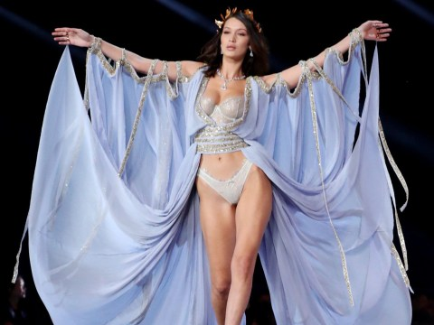 Bella Hadid takes to the Victoria's Secret catwalk a year after awkward runway run-in with ex The Weeknd
