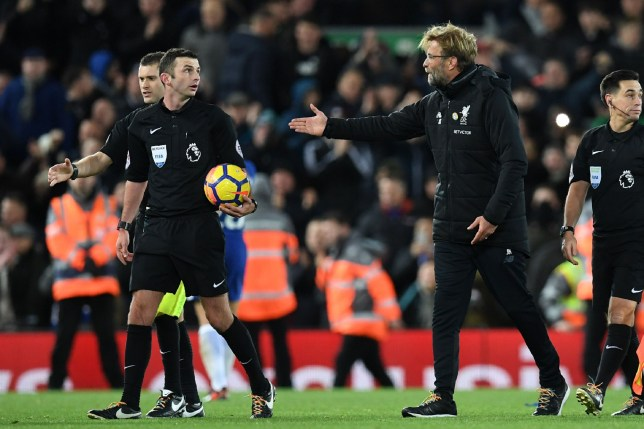 Michael Oliver denied Liverpool substitution because he thought Jurgen Klopp was trying to time-waste
