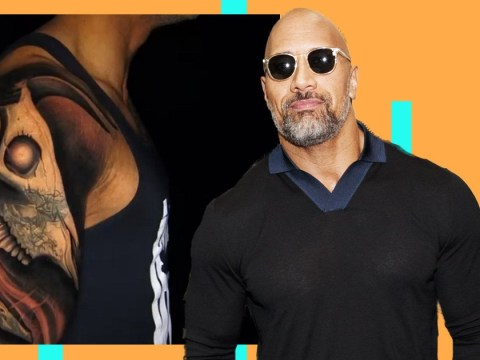 Dwayne 'The Rock' Johnson shows off elaborate tattoo with its 'horns always positioned forward'