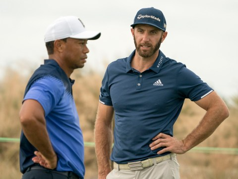 Dustin Johnson insists he is outdriving Tiger Woods as 14-time major champions gears up for his latest comeback