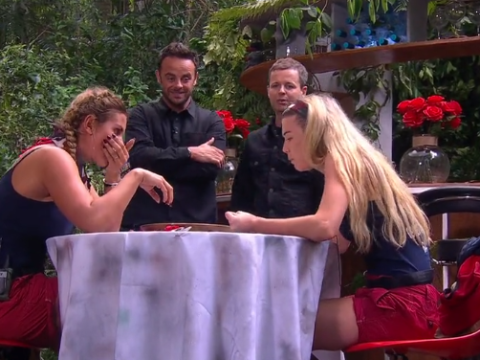 I'm A Celebrity spoiler video: Becky Vardy and Toff gag as they eat cockroaches and mealworms during Bushtucker Trial
