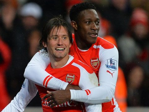 Danny Welbeck pays tribute to retiring Tomas Rosicky with celebration vs West Ham