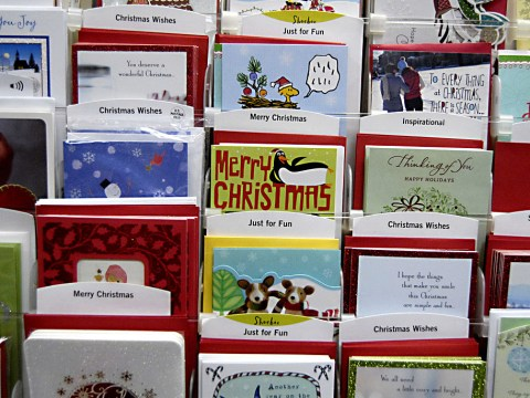 Who sent and received the first Christmas card?