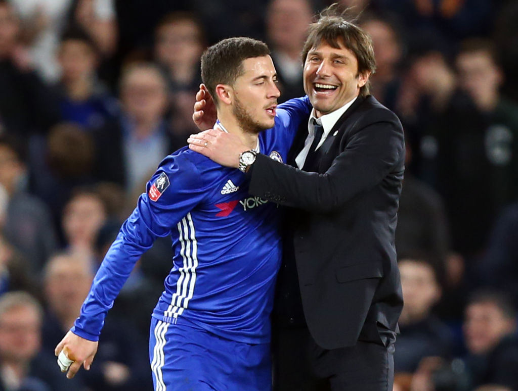 Chelsea boss Antonio Conte breaks silence on Eden Hazard contract rumours