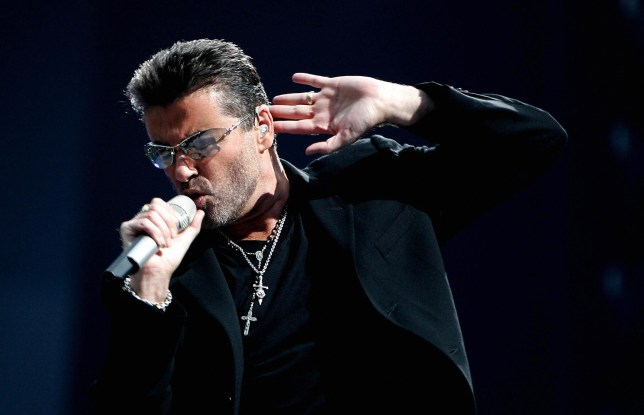 British singer George Michael performs during a concert in Amsterdam