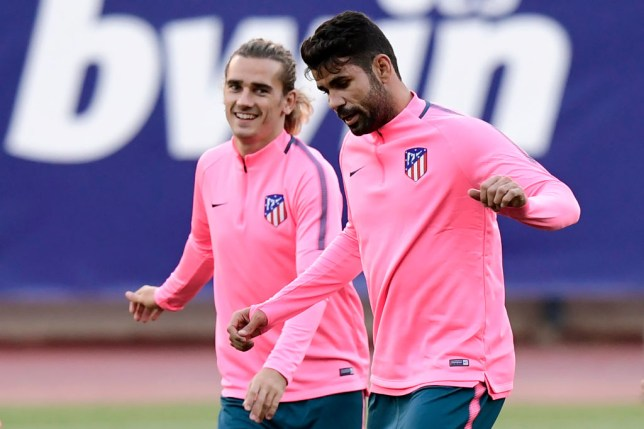 Diego Costa in training with Atletico Madrid