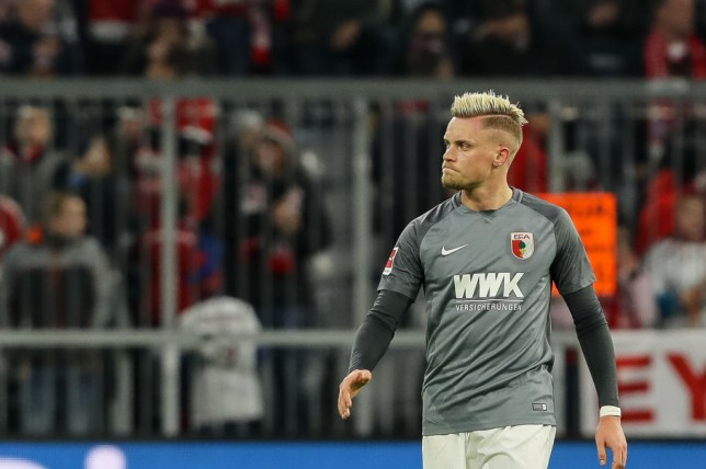 Philipp Max in action for Augsburg