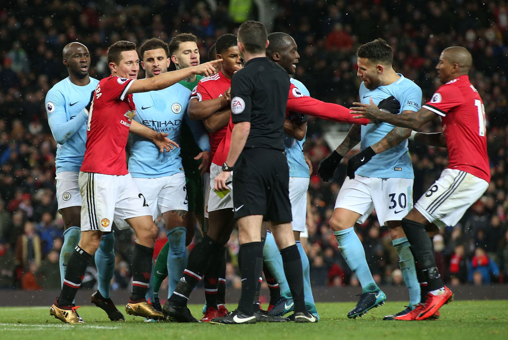 Romelu Lukaku tried to slam dunk Manchester City players during Old Trafford tunnel brawl