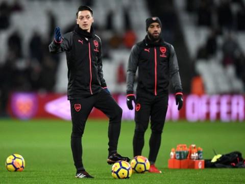 Arsenal captain Laurent Koscielny blanked by teammates during pre-match West Ham team talk
