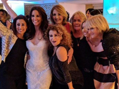 Andrea McLean celebrates with Loose Women panelists in first photos of her wedding to Nick Feeney