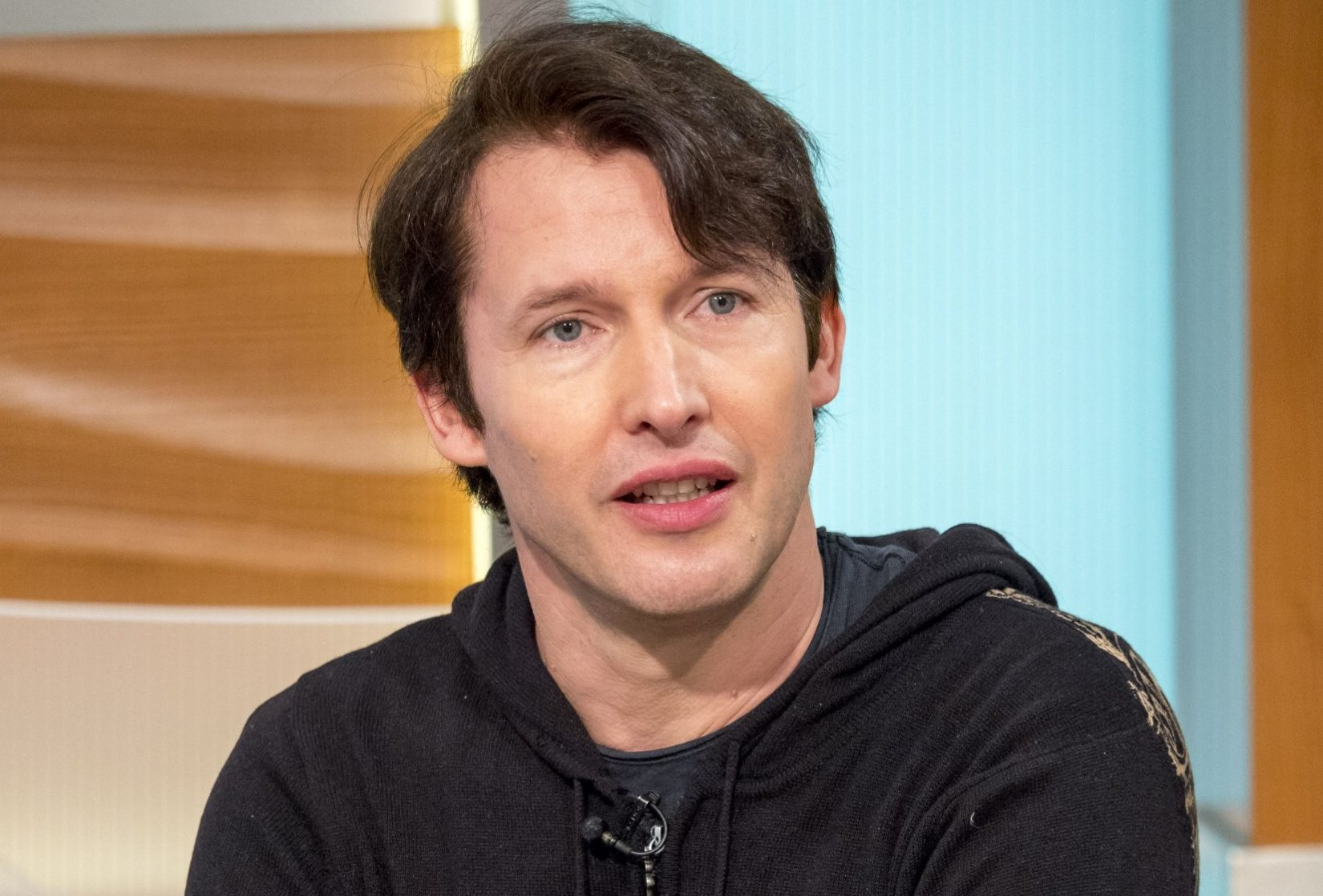 EDITORIAL USE ONLY. NO MERCHANDISING Mandatory Credit: Photo by Ken McKay/ITV/REX/Shutterstock (9279120g) James Blunt 'Good Morning Britain' TV show, London, UK - 12 Dec 2017 He's busked with Bear Grylls, is mates with the royals and has even served with Prince Harry... so will he be a guest at his wedding? James joins us for a rare chat before Christmas to promote his 5th album.