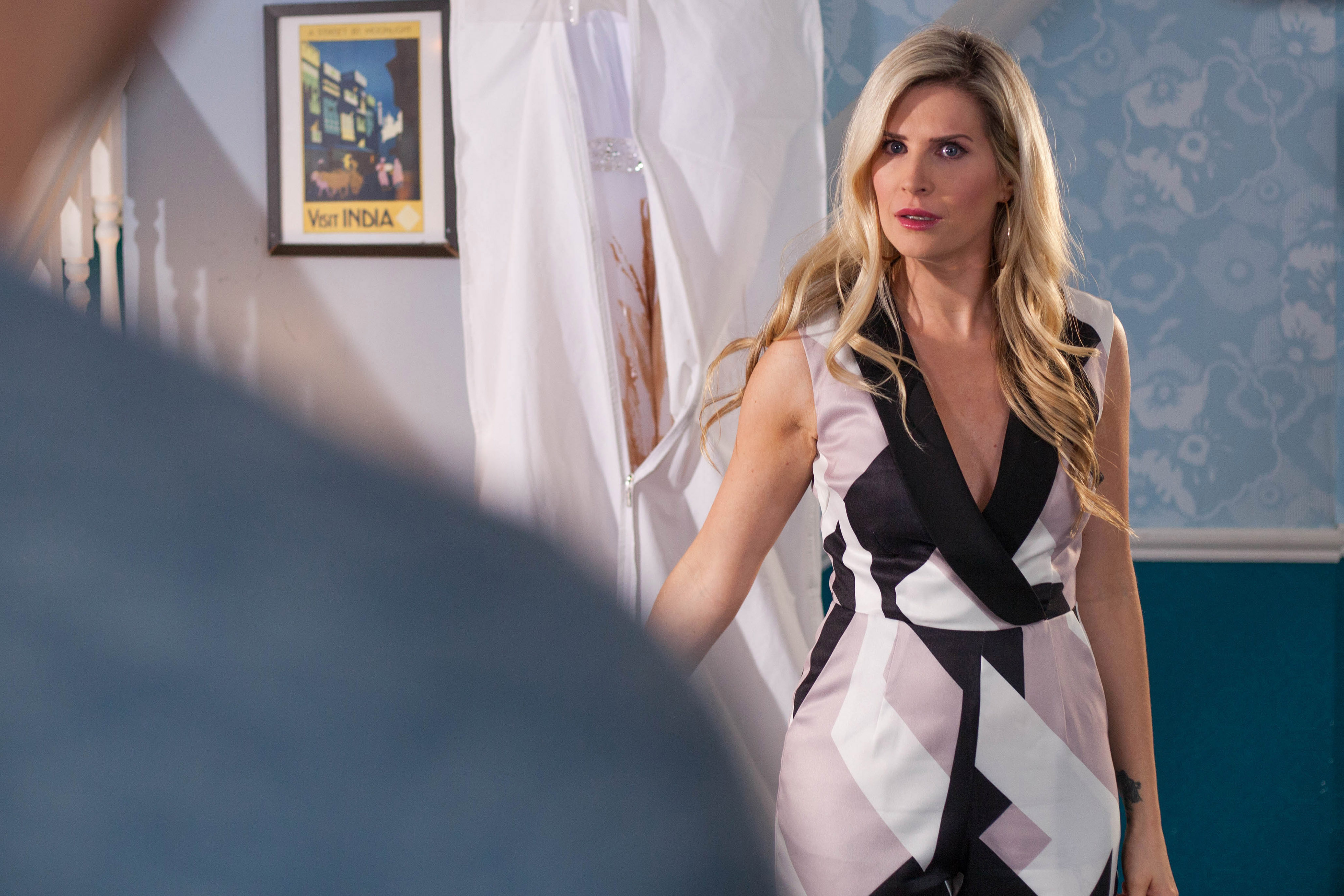 Mandy is shocked by what Luke has done in Hollyoaks