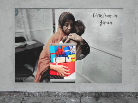 Photographer creates billboards to show the brutal reality of Christmas in Yemen