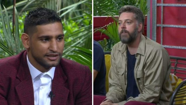 I'm A Celeb's Amir Khan gets confrontational with Iain Lee as he insists he didn't bully the radio DJ