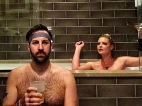 Katherine Heigl recreates nude home photoshoot with husband Josh Kelly for ten-year wedding anniversary