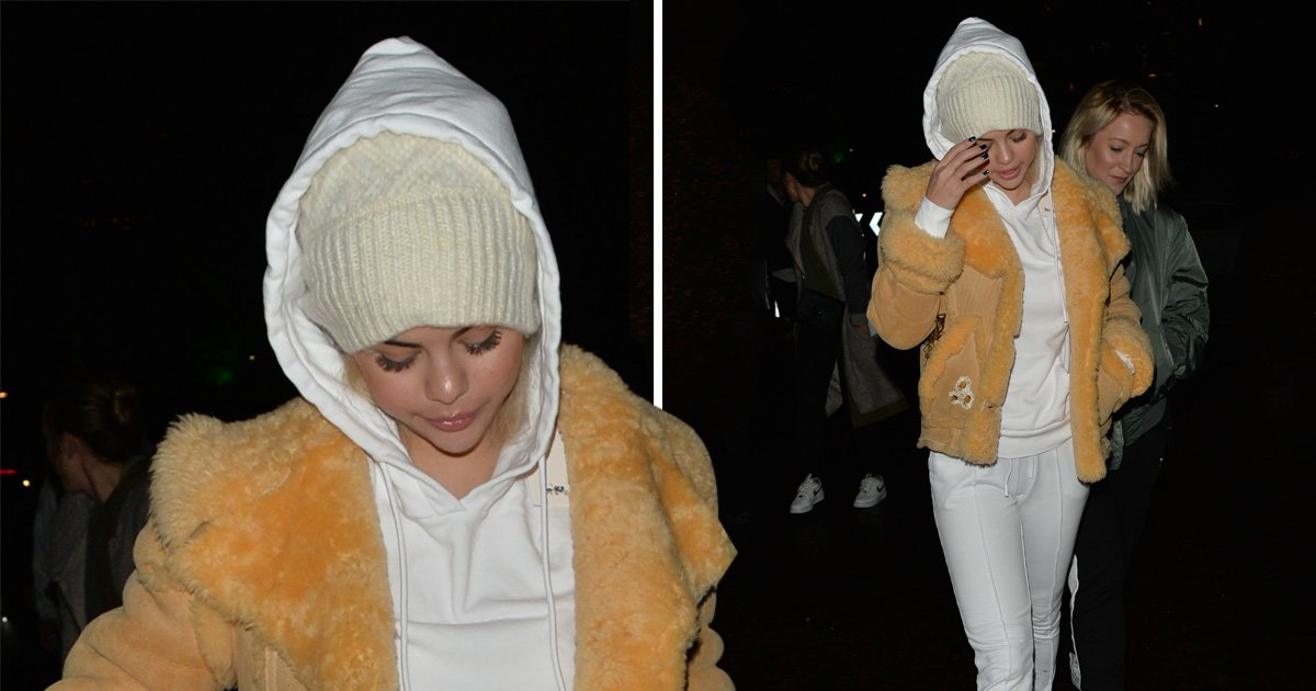 Selena Gomez bundles out of London's Winter Wonderland after claiming no one cares about Bieber reunion