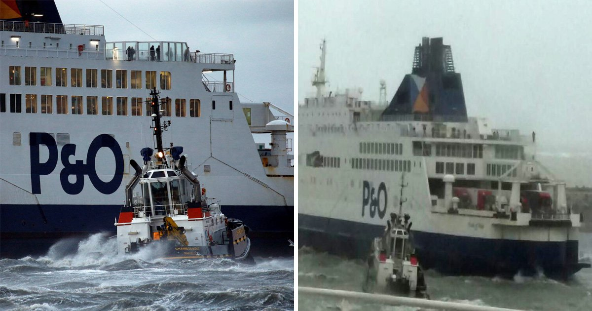 P&O ferry with 316 people aboard crashes into Port of Calais