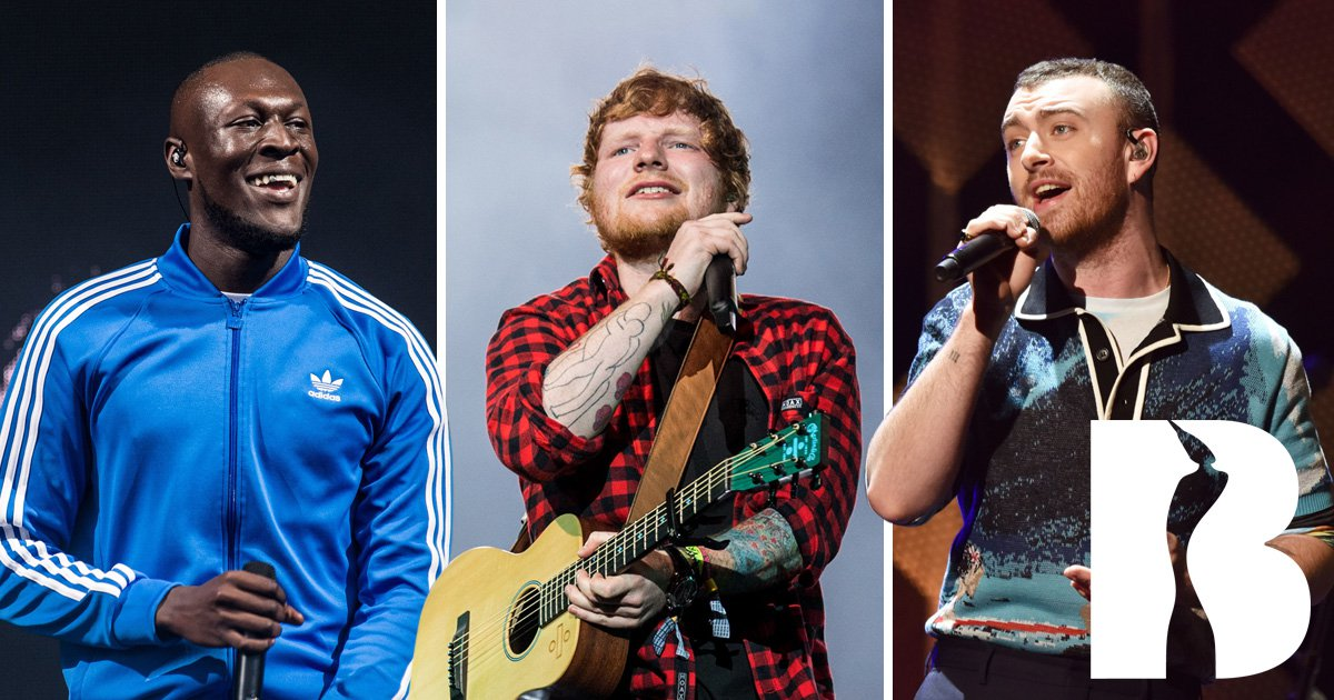 Ed Sheeran, Stormzy and Sam Smith are set to perform at 2018 Brits Awards