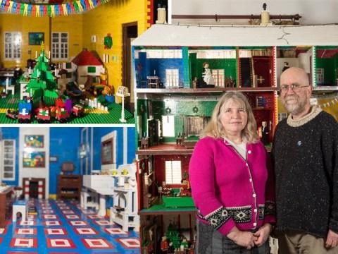 Lego fans build a Victorian dollhouse made of 450,000 bricks