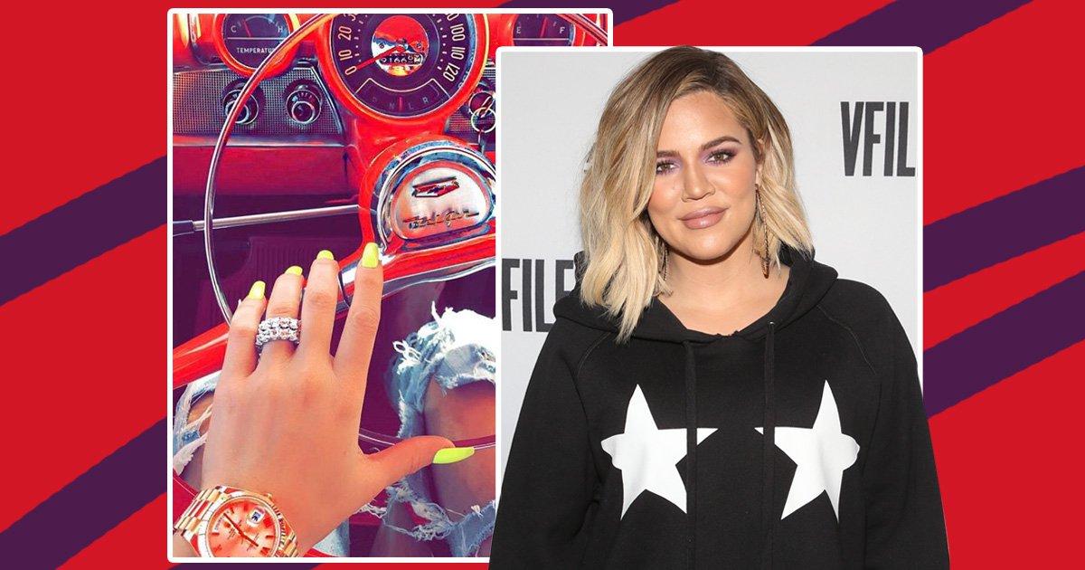 Khloe's ring isn't an engagement/wedding ring
