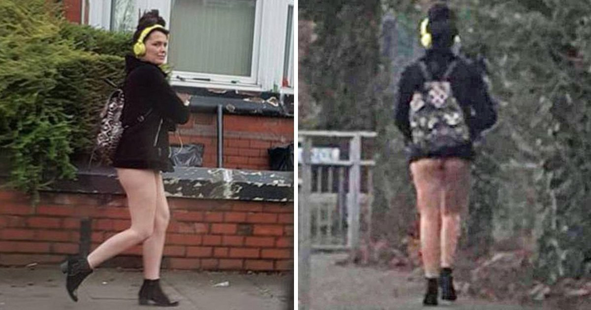 Woman was stopped by police because her hotpants were so tiny