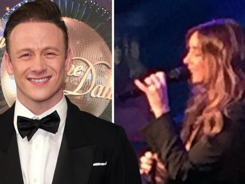 Kevin Clifton is spotted at Louise Redknapp comeback show in London as she performs with wedding ring on