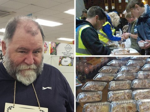 Pensioner feeds homeless people at Christmas with curries he made in his kitchen