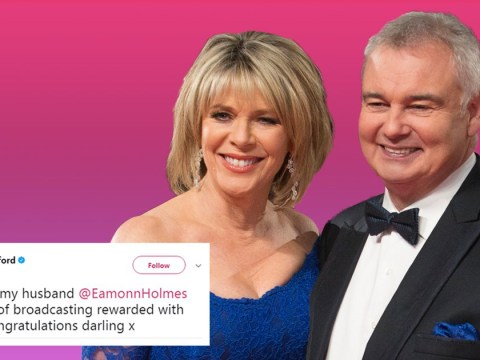'Congratulations darling!': Eamonn Holmes praised by wife Ruth Langsford after receiving OBE in New Year's Honours list