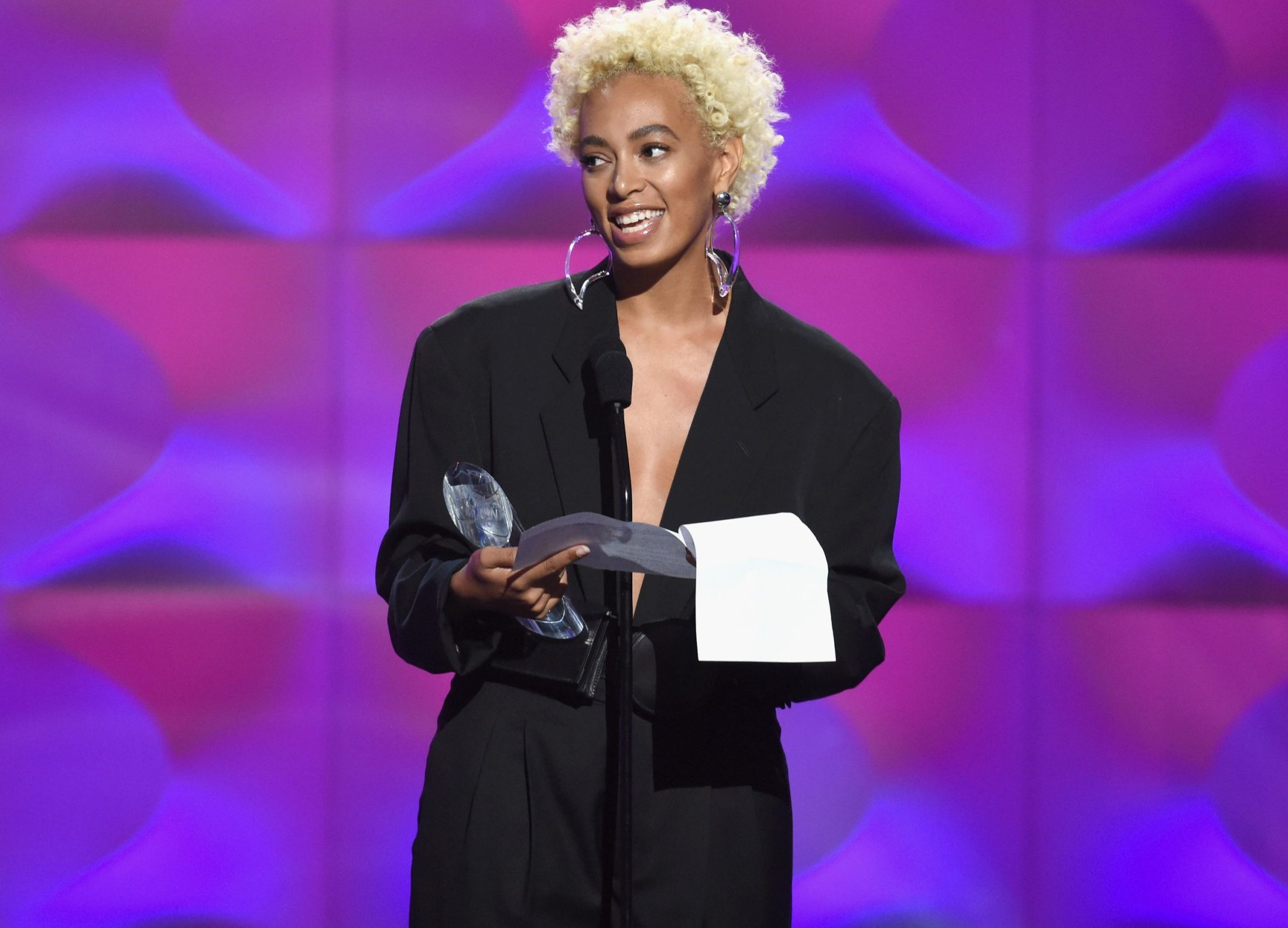 Solange announces it's a 'new day' for women in music as she's honoured for her impact on the industry