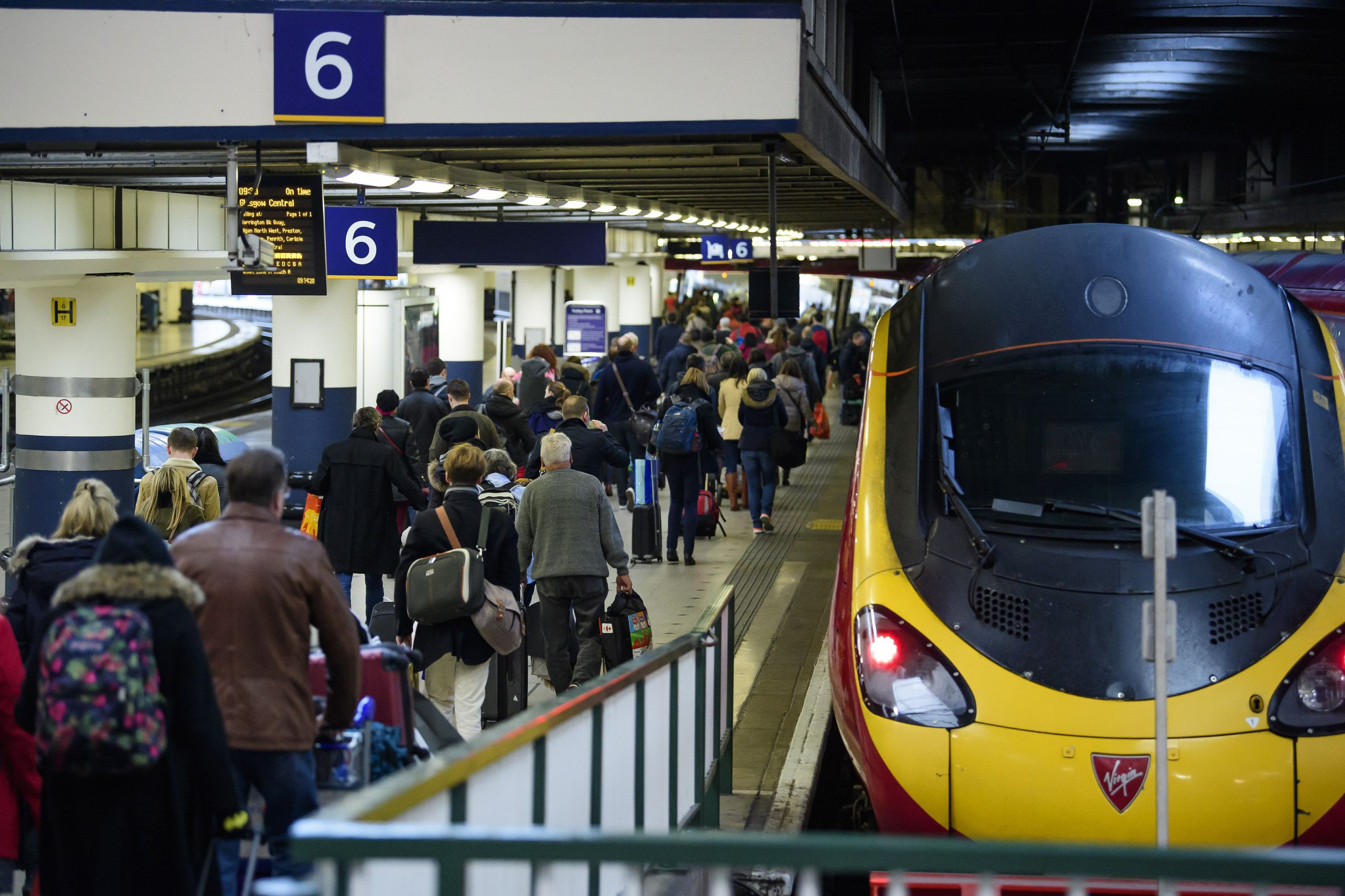 Chaos at Euston as all trains in and out of the station are cancelled