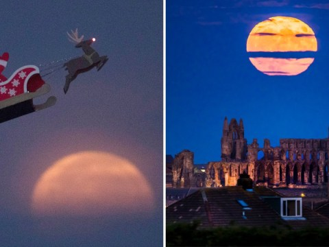 In pictures: How the supermoon lit up the sky on Sunday