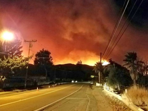 Where is Ventura County and where is the California wildfire raging?