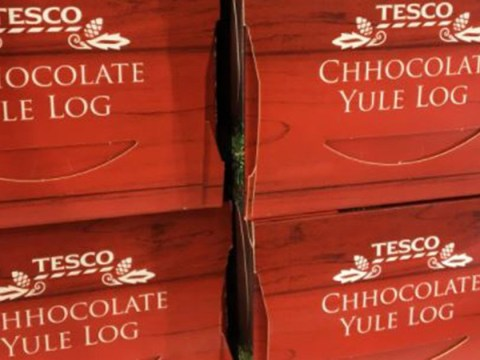 Tesco's having some trouble with its 'chhocolate yule logs'