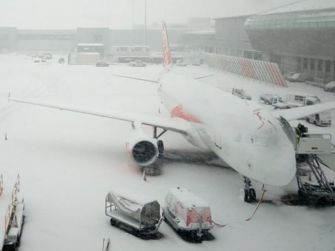 Flights still not landing at Luton Airport as heavy snow hits runway
