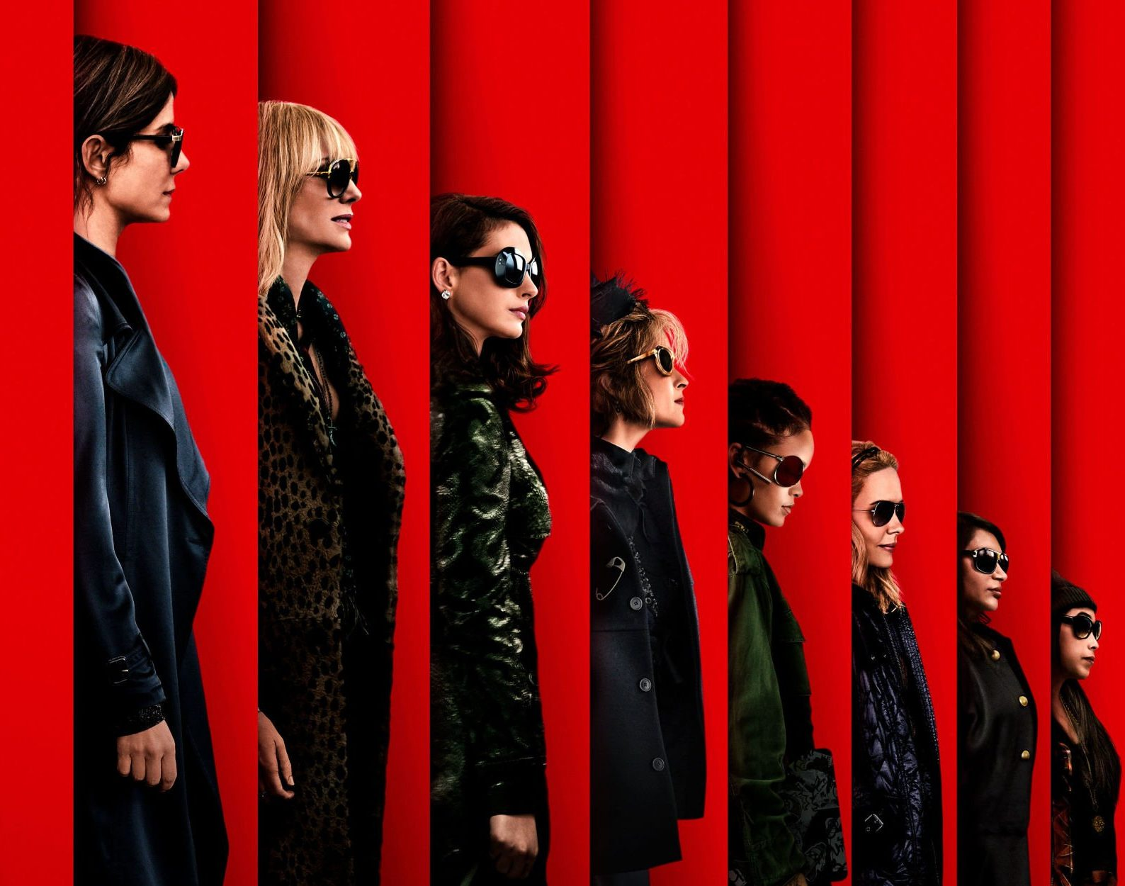 Here's the first look at the Oceans 8 poster featuring an all-female cast led by Sandra Bullock