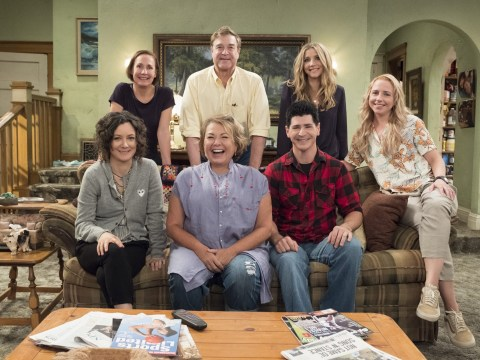 Roseanne cast reunite for family photo as start date of its revival confirmed