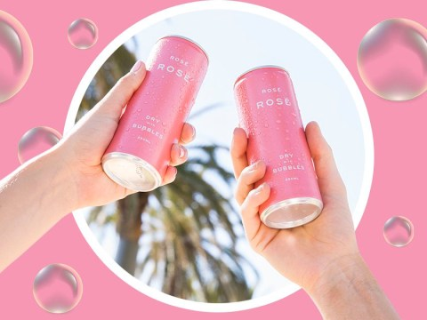 The world has been blessed with sparkling rosé in a bright pink can