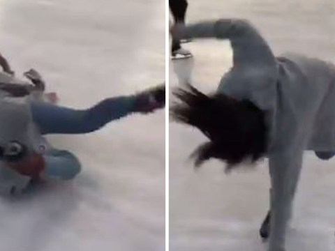 Isn't this all of us when we try to go ice skating?
