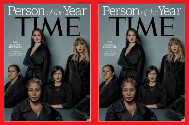 """Kyle GriffinVerified account TIME's Person of the Year, just announced on @TODAYshow, is the """"Silence Breakers,"""" people who came forward to tell their stories of sexual assault."""